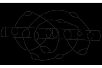 Gancho alambre plano