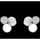 V leaf earring