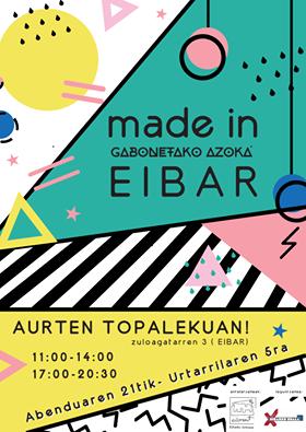 Cartel feria artesania navidades 2016 eibar - cartel Made in eibar - eibart