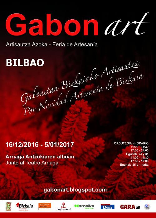 Cartel Feria artesania de bilbao Gabonart 2016