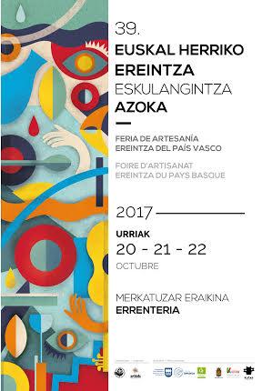 Cartel 39 edicion de la feria de artesania EREINTZA Errenteria 2017