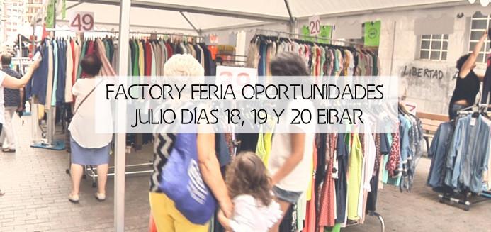 Feria oportunidades, outlet, Factory Eibar