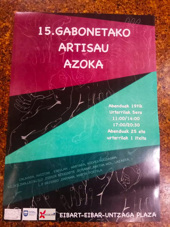 Cartel feria artesania navidades 2019 eibar - eibart 2019