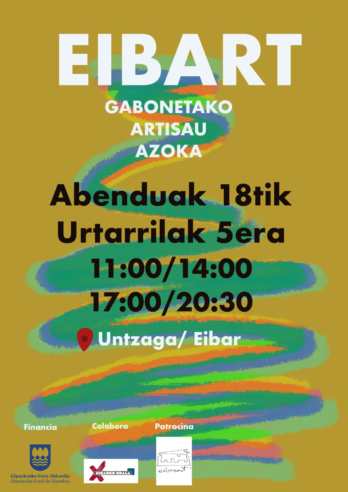 Cartel feria de navidad EIBART 2020 en Eibar - ESKULAN
