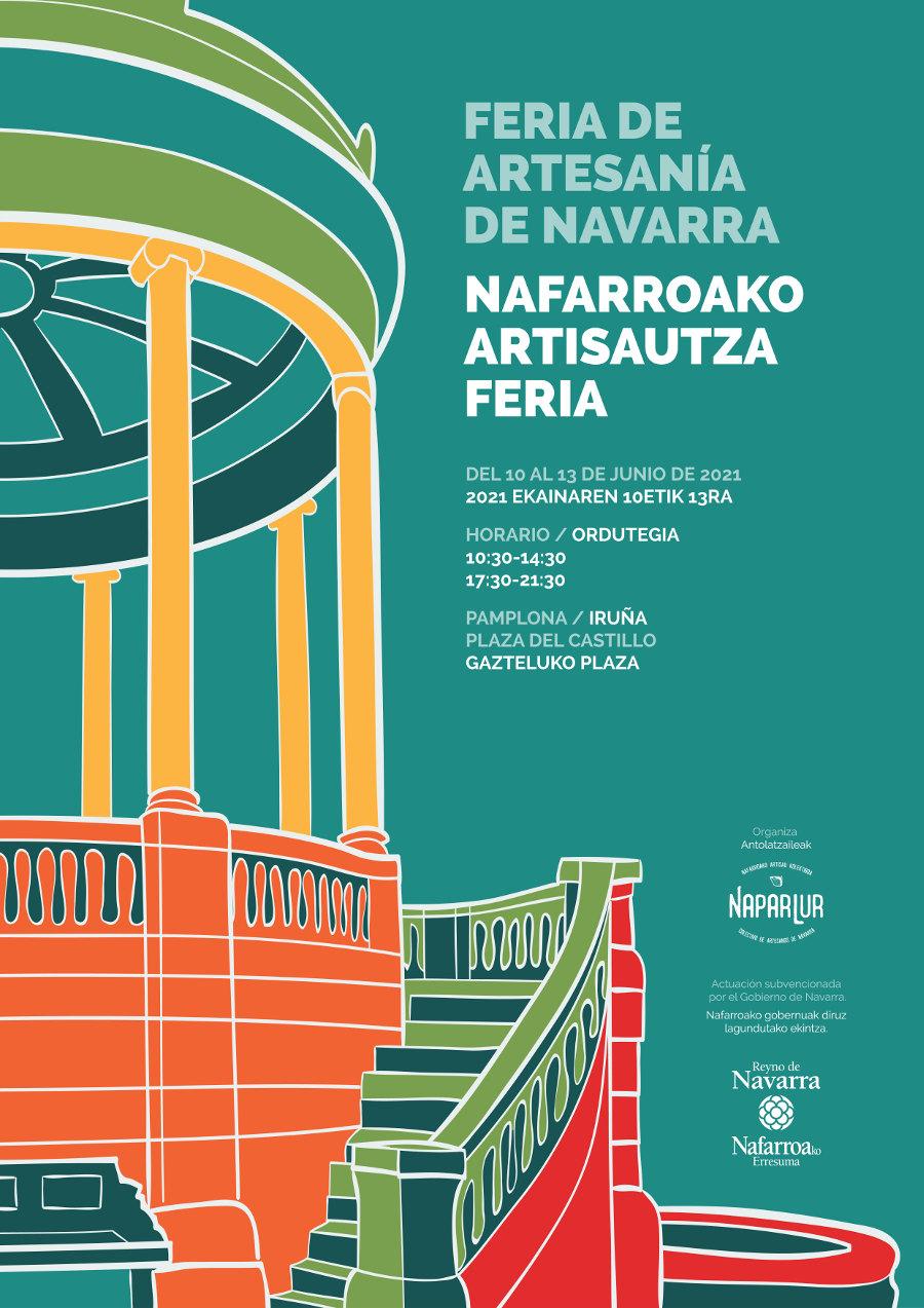 Nafarroako artisautza feria 2021 kartela -  Eskulan