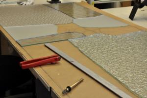 Fabricación puerta cristal eskulan