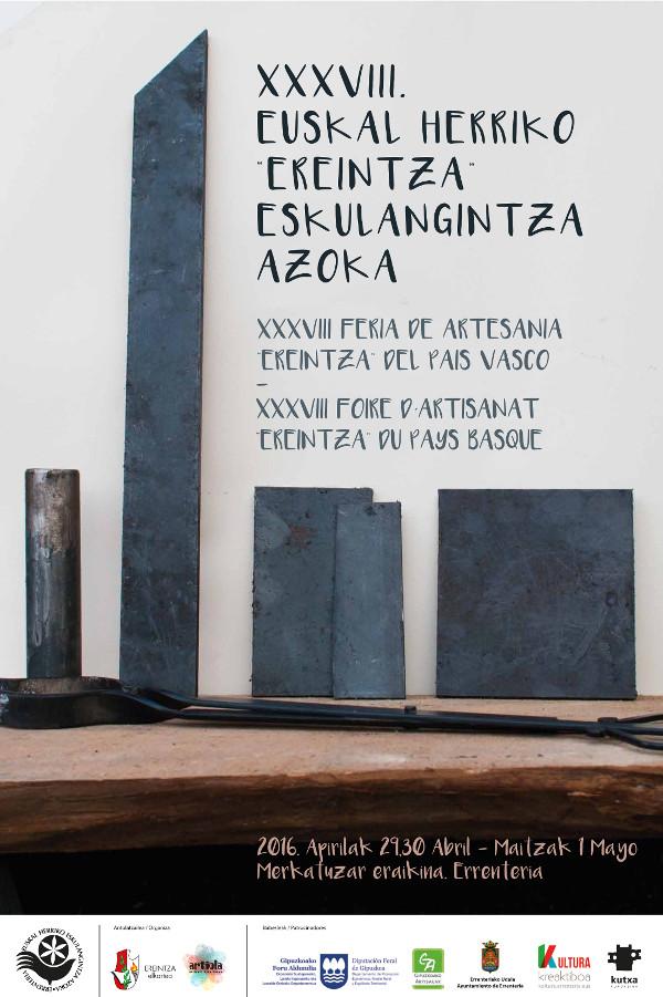Cartel 38 edicion feria artesania Ereintza Errenteria 2016