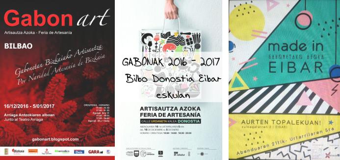 Cartel ferias navidades 2016 - 2017 Dosnostia, Bilbao Eibar