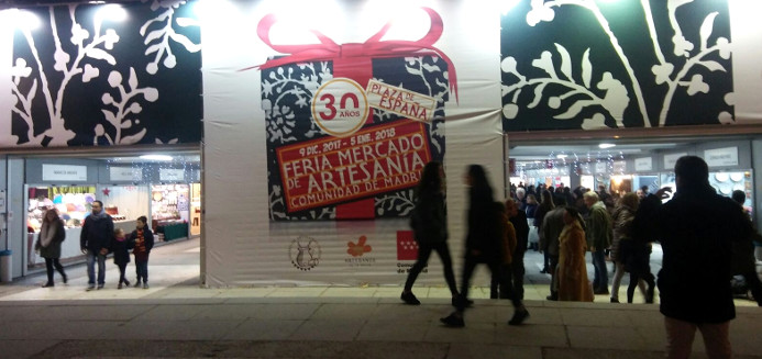 Feria Mercado de Artesanía Comunidad de Madrid navidades 2017